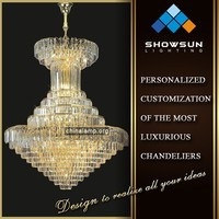 Zhong shan all trapezoidal shape crystal hotel large droplight