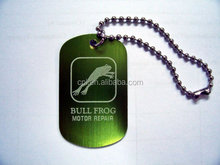 Hot dog tag for pets, metal tag