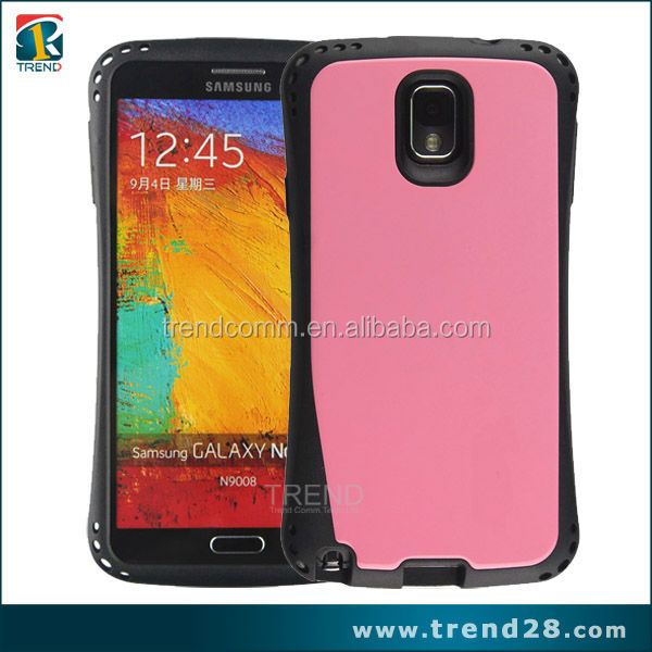 glossy back pc tpu protective armor case for samsung galaxy note 3