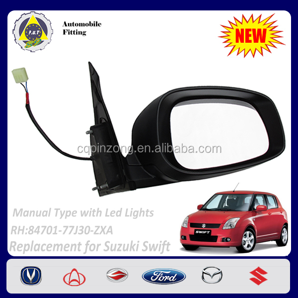 Car Body Parts Manual with LED lights 2 Lines RH Side View Mirror For Suzuki Swift 1.3L OEM 84701-77J30-ZXA