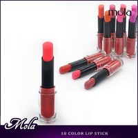 Low MOQ for customized color 10 color in stock manufacturers of lipstick plastic lipstick molds