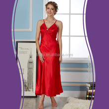 New arrival 100% polyester silk nightwear wome sexy short nighty