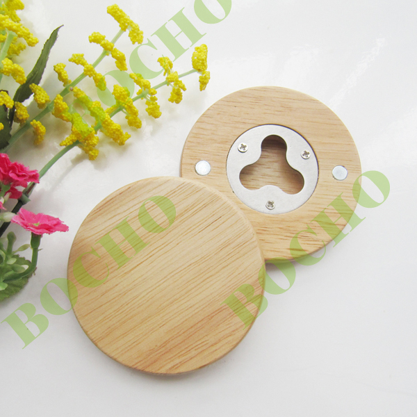 wooden bottle opener with magnet