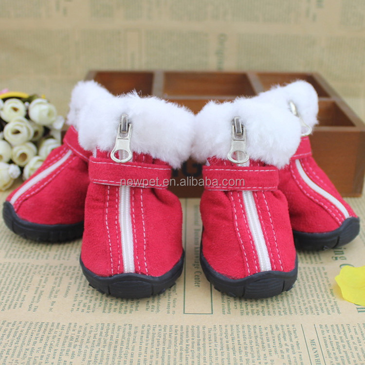 Processing customized new import skid-resistant pet shoes fabric walking pet shoes