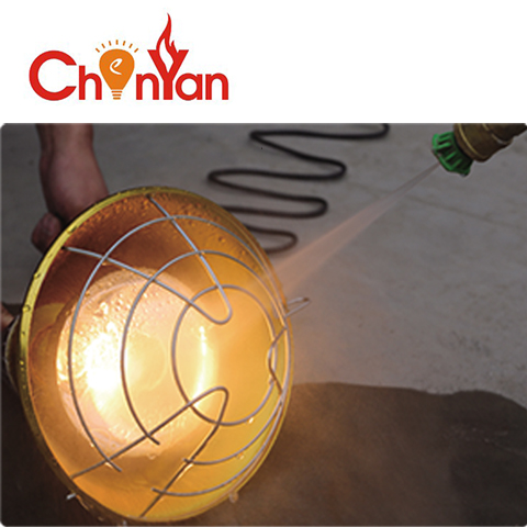 poultry energy efficient infrared heating lamp for saving cost