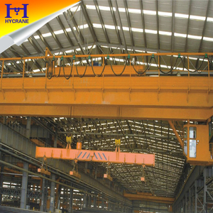 Steel Factory, warehouses use magnetic overhead crane