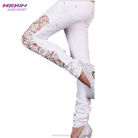 Women Stock Lots Fashion Damaged Jeans Wholesale Price