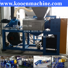 waste pe pp plastic film flakes squeeze dryer