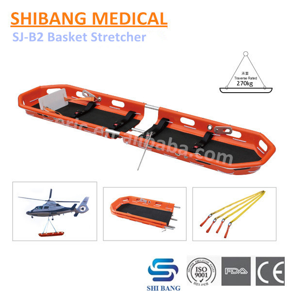 SJ-B2 Popular Style!! First-aid Alluminum Alloy Ambulance Basket Stretcher for Wounded