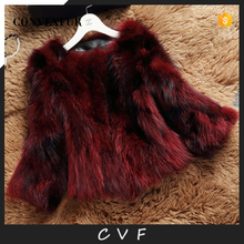 Fashion designs raccoon fur used overcoats for ladies winter wholesale
