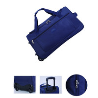 Extra large 800D 600D 1680D roller carry on trolley overnight travelling duffle luggage bag, unisex nylon travel bag with wheel