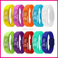 Factory Direct Silicone Led Watch Silicne