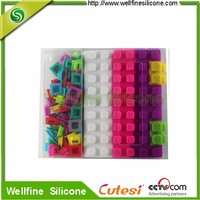 factory wholesale silicone polychrome note book with DIY puzzle