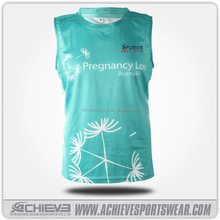 breathable printed cheap youth basketball uniforms green color