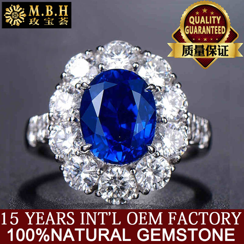 hot sale natural sapphire stone ring 18k gold inlay diamond and gemstone chinese gold jewelry for women