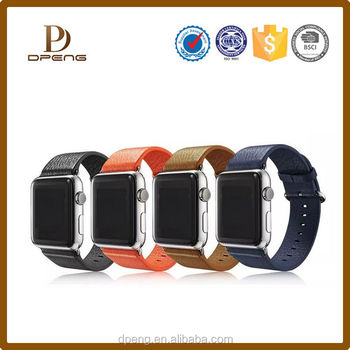 2015 Alibaba factory Custom excellent genuine leather smart watch band