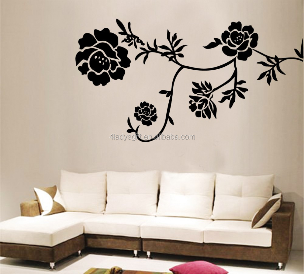 Wholesale Good Price Custom Colorful Home Decor Wallpaper Flower House