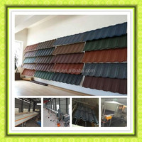 colorful stone chip coated metal roof tile making machine