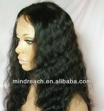 Indian remy hair full lace human hair wigs for black women, accept Paypal