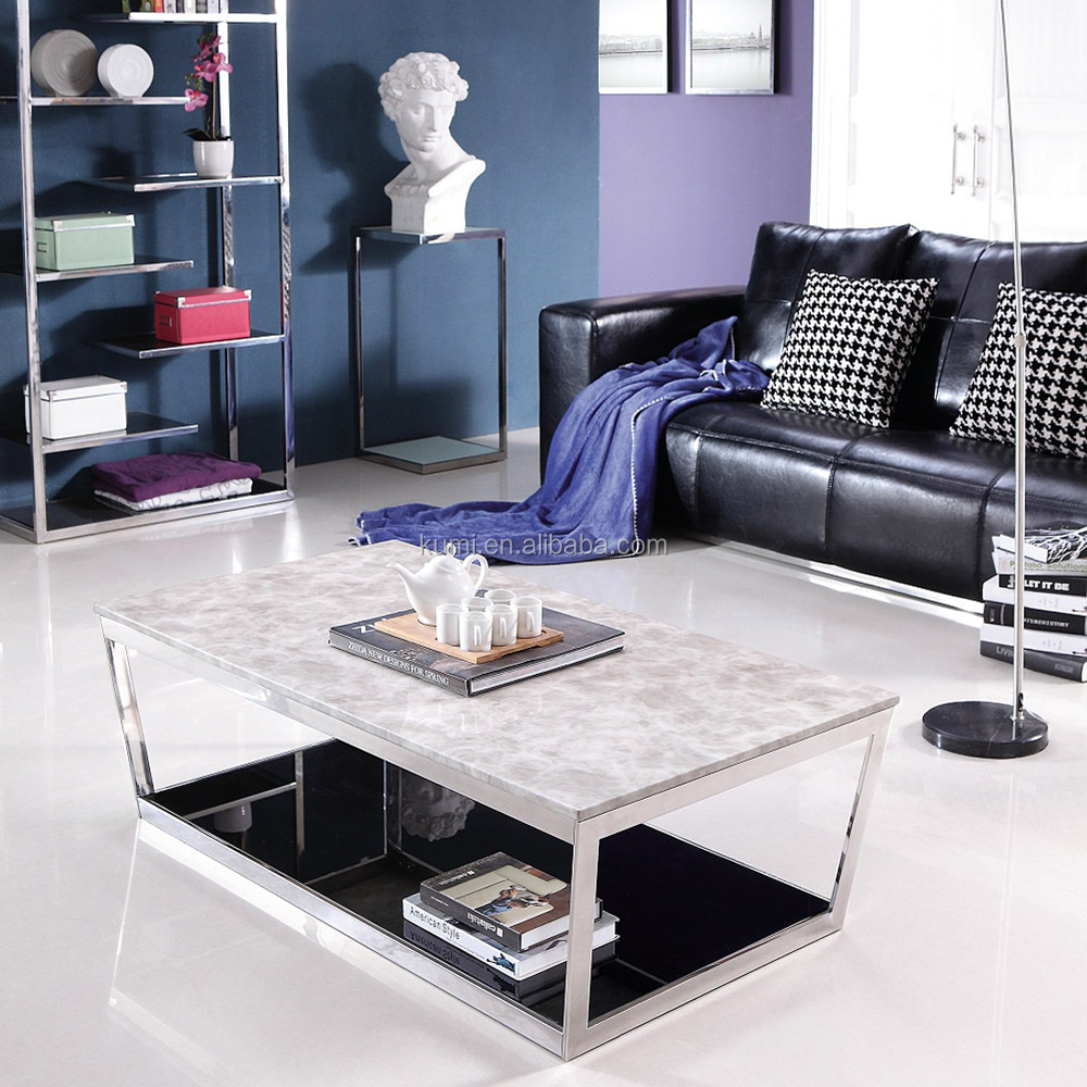 Marble tea table and chairs set for living room furniture design