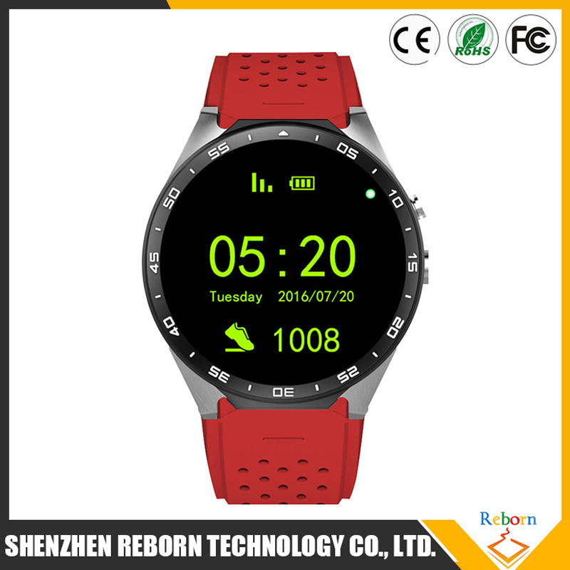Reborntech K88 mobile phone 3G Google map smart watch with GPS, camera, wifi