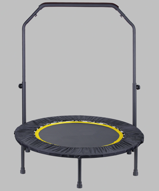 Gym Equipment Adult Indoor Mini Trampoline With Handle Bar