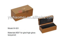 luxury wooden wine box high gloss lacquered wooden case