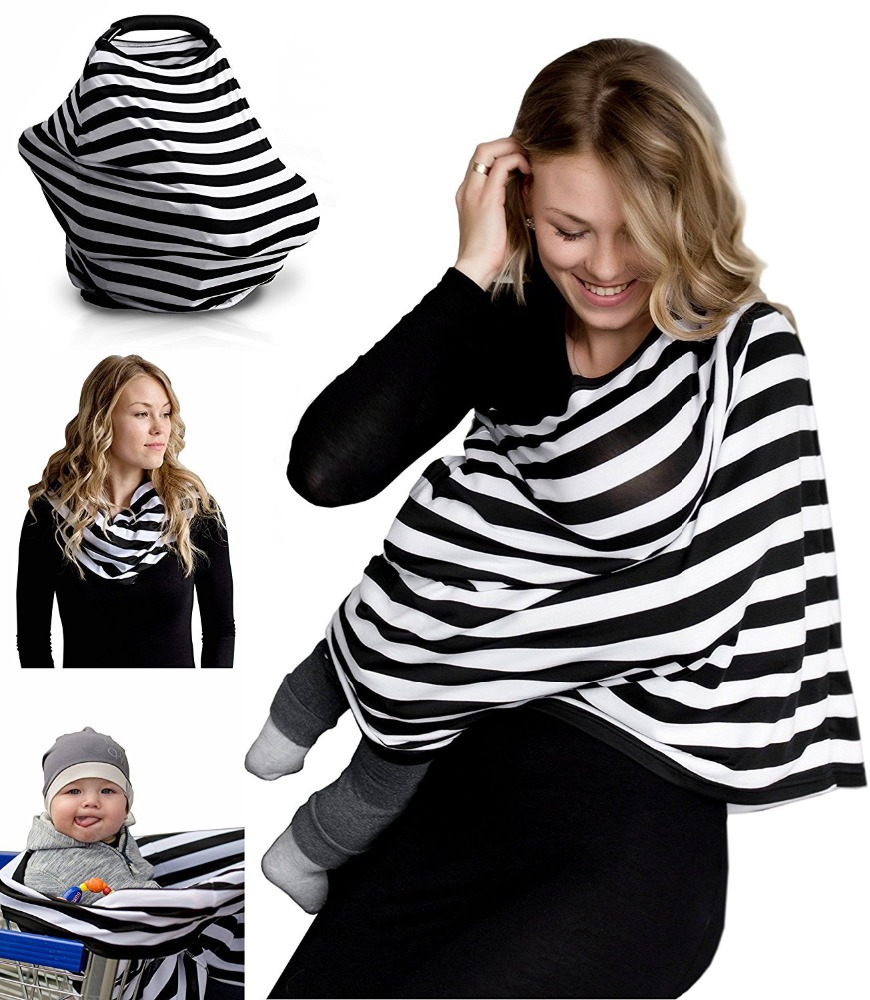 New style soft cotton baby car seat covers nursing breastfeeding cover shawl scarf