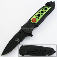 "8""Stainless Steel Half Serrated Blade Assist Opening Folding Pocket Multitool Rescue Knife"