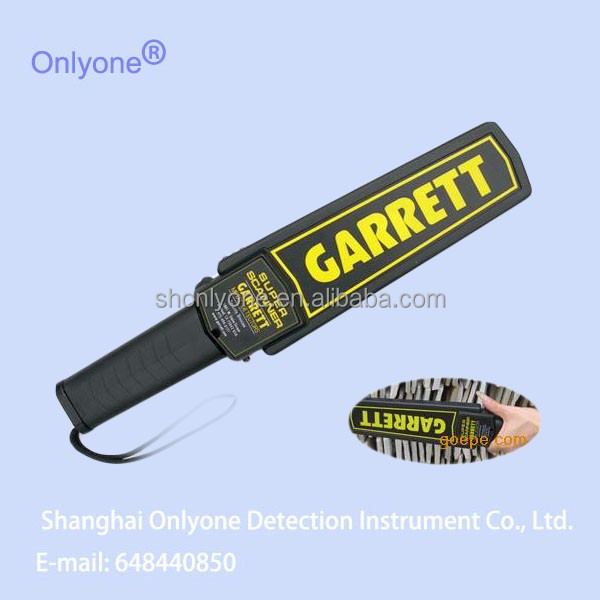Security Gold and silver gun metal detector for security department