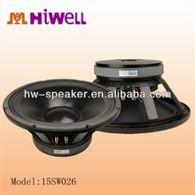 "15"" 600Watts Subbass woofer stage subwoofer and club"