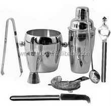 wholesale stainless steel bar tool set 8 pieces