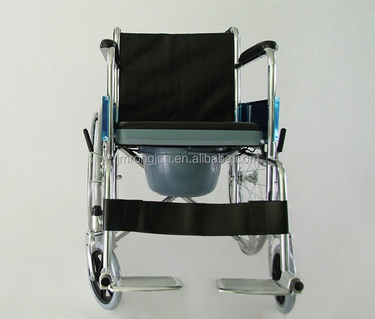 handicapped fold up toilet commode wheelchair for bedside RJ-C632
