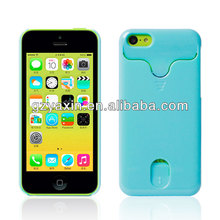 Plastic credit card hard case for iphone 5c,hard plastic cases for iphone 5c