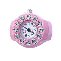 new arrivals 2016 popular diamond stone ring finger watches quartz watch for ladies gift