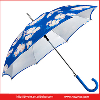 Advertising uv protection straight aluminium golf umbrella for sale