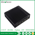 High qualified dual display I3 Fanless Mini PC with 6 COM and 6 USB