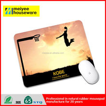Kobe Making Nice Shots Basketball Sun Rises up Nature Rubber Mouse Pads Famous Star