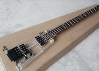 Headless electric bass guitar with Acrylic body