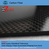 3K Plain/Twill Full 100% Carbon Fiber Plate,Carbon Fiber Sheet 4.0MM 400mm*500mm