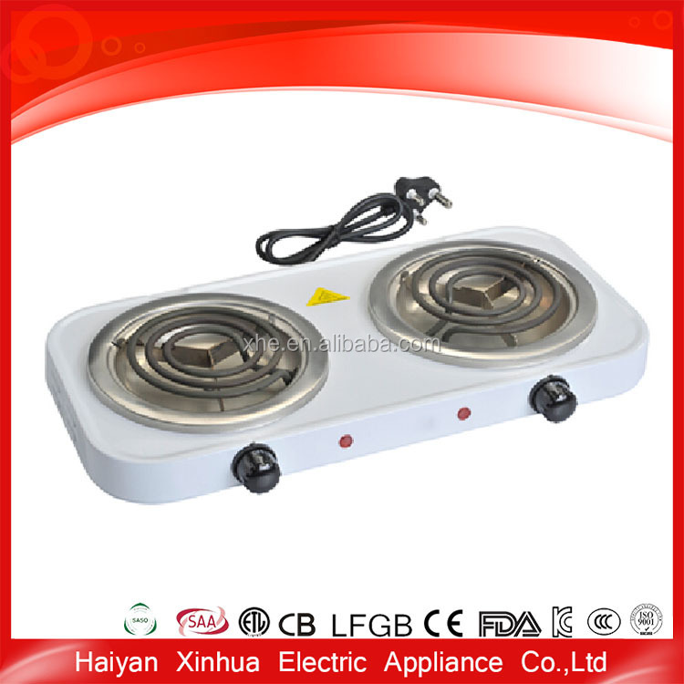 White ceramic electric hot heating plate cooking