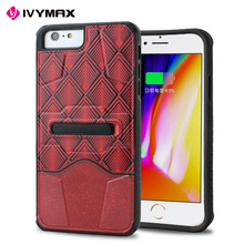 For iphone hot cell phone case new design grid printing combo case for iphone 7 plus