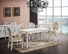 elegant white oak dining table and chairs DXY-818 dining table and 308 dining chairs