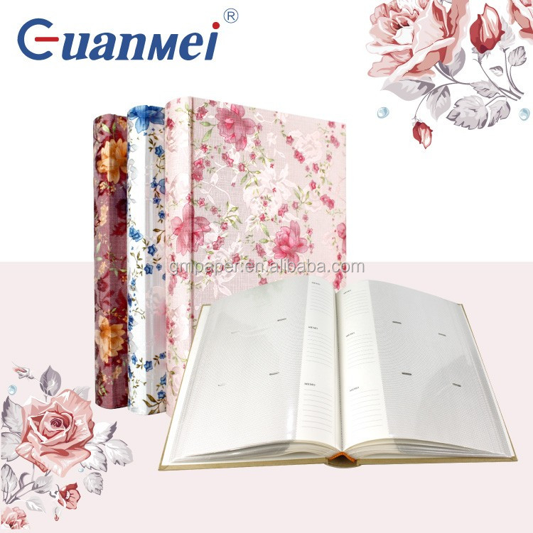 N55028 4x6 50 sheet 300 photo paper personalized cloth photo albums with memo space album