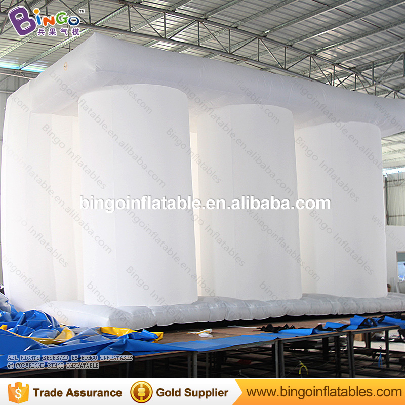 Giant inflatable 3d building model for photography background wall