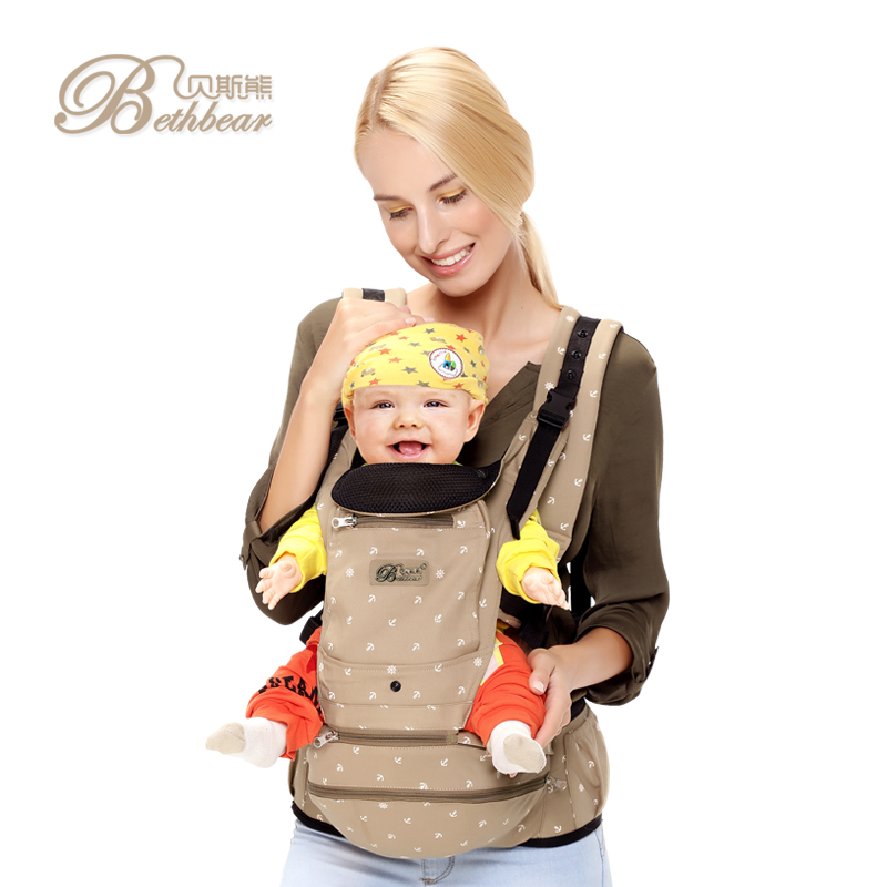 2016 China multi-function baby hip seat carrier kangaroo baby carrier with cap