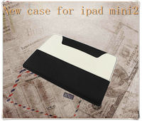 2013 new fashionable book leather case for ipad mini,for tablet PC mini iPad case
