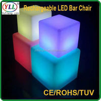 flashing drinkware ce saa led ball/led cube/led ice bucket rechargeable led cube & chair rechargeable led cube & chair