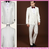 G256-431 2014 In stock China alibaba elegant designer fashion latest men business suits white wedding suits for groom