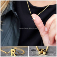 wholesale alibaba fashion jewelry 16k goldfilled cheap initial necklace